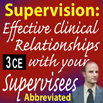 Supervision: Effective Clinical Relationships with Your Supervisees -Abb